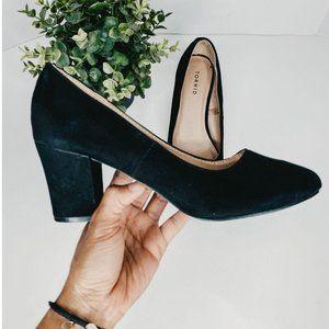 Torrid Pumps Chunky Block Heels Smooth Suede Shoes